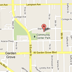 Garden Grove Community Meeting Center Area Map